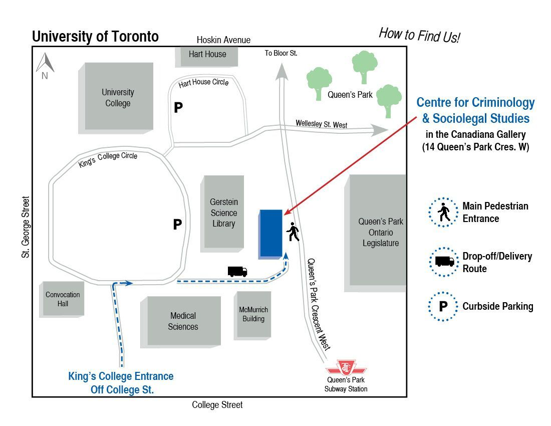 Map of the area around the Canadiana Gallery indicating the building's location